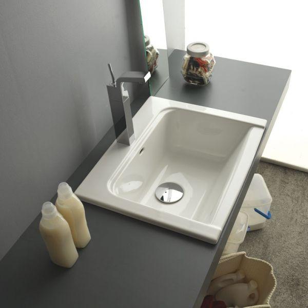 Lavabo/lavatoio incasso arredo lavanderia Lancashire 60