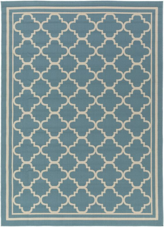 So durable and affordable, these sea inspired coastal rugs will look fabulous indoors too!