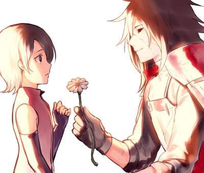 Madara and Sarada Uchiha ♥ - image with credits.