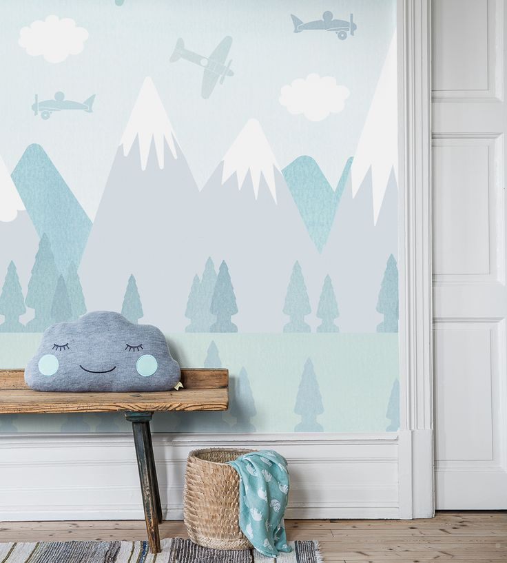 How To Style Boys Rooms | BRIO Air Wallpaper by Borastapeter | Jane Clayton