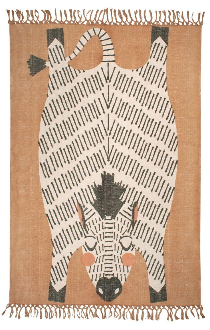 Nattiot Baumwoll-Kinderteppich 'Naia' karamell 110x170cm bei Fantasyroom online kaufen