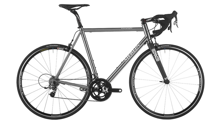 Merlin Extralight SRAM Force Bike $4,399 - this bike is built with a complete SRAM Force group with compact, 50-34 tooth chainrings. At the rear, you'll find the climber's theme continued with a 12-25 tooth, SRAM PG-1050 cassette. The bike rolls on a Reynolds Solitude clincher wheelset that's been cased with Vittoria Zaffiro tires. Rounding out the build is a Zipp Service Course cockpit, Arundel cork handlebar tape, and a Selle Italia SL Kit Carbonio saddle. Lots of sizes