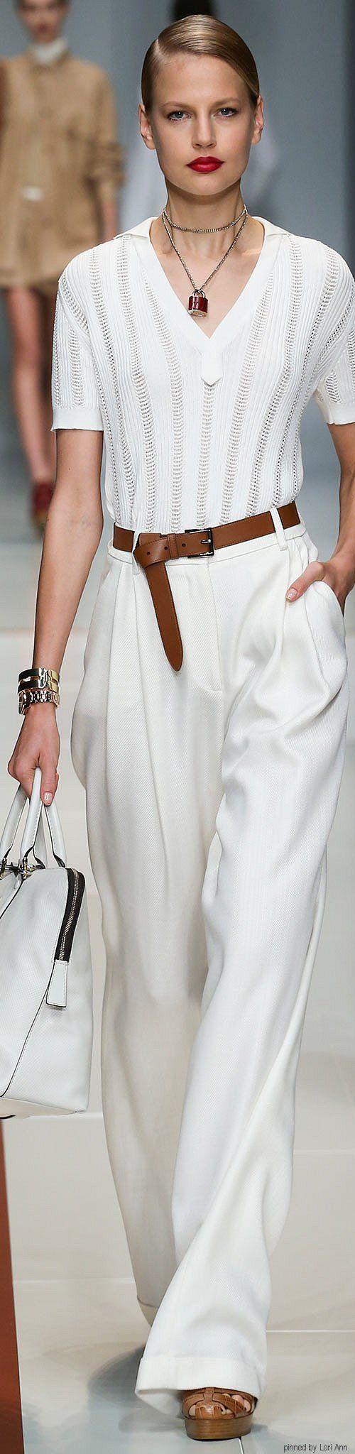 Trussardi Spring 2015 RTW  women fashion outfit clothing stylish apparel @roressclothes closet ideas