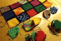 Upcycling für Wollreste: Babydecke häkeln oder stricken   kreativbunt