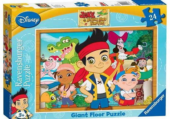 Ravensburger Jake and the Never Land Pirates The bold. bright and very colourful giant floor puzzle shows Jake and his Never Land friends. How many characters can you spot and name? The big character images and clearly defined images make this a http://www.comparestoreprices.co.uk/jigsaws-and-puzzles/ravensburger-jake-and-the-never-land-pirates.asp