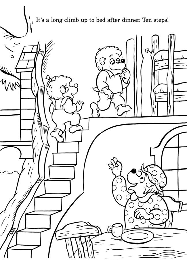 colouring in page sample from bearenstain bears colouring with numbers book via dover publications s - Berenstain Bears Coloring Book