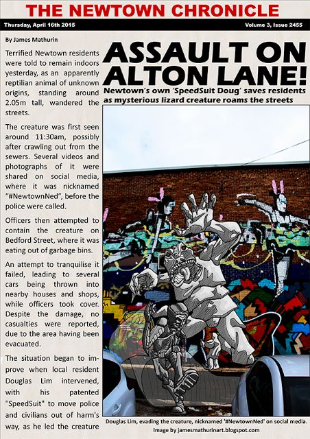 James Mathurin Art: The Assault on Alton Lane makes the Local Press - ...