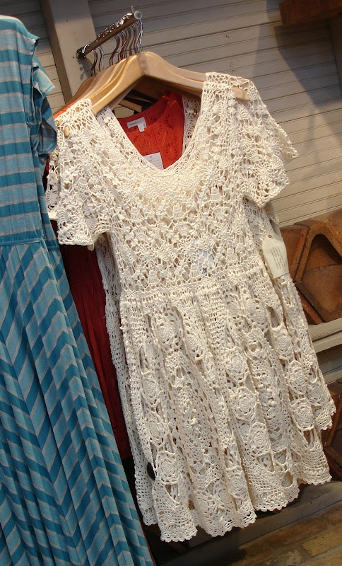 Anthropologie crochet dress