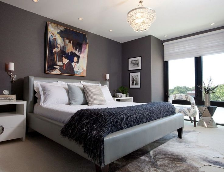 Modern Bedroom With Masculine Look For Men With Dark Grey Wall Paint As  Well As Nice Wall Painting Over The Bed   Emphasize Masculine Impression  for Men. 17 Best ideas about Men Bedroom on Pinterest   Men s bedroom decor