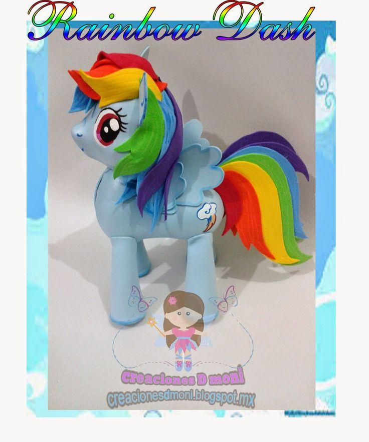 creaciones D Moni: Raimbow Dash My Little Pony fomi 3D