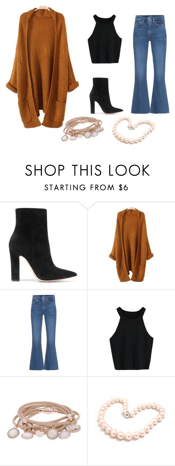 """""""If you watch Girl Meets World this is a Maya outfit"""" by caitlankeleher ❤ liked on Polyvore featuring Gianvito Rossi, M.i.h Jeans, Marjana von Berlepsch and Hiho Silver"""