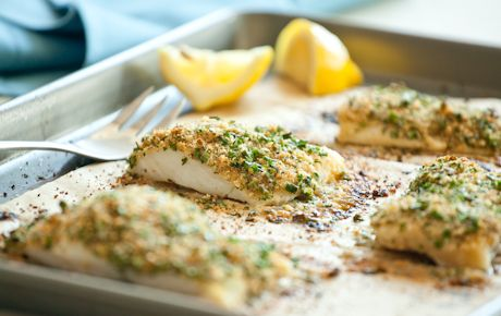 This simple preparation of cod has been a favorite for generations. Using pieces of fillet equal in thickness is important for ensuring even baking; if you have any pieces that are particularly thick or thin you may want to bake them in a separate pan to ensure that they are not over or under baked.