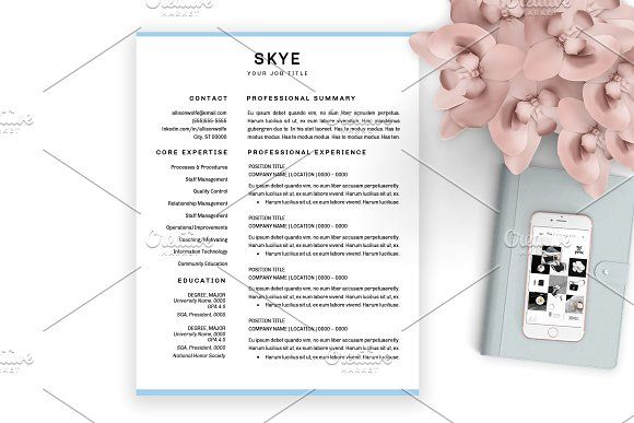 2 Page Resume Template For Word By Chic Resumes On Graphicsauthor
