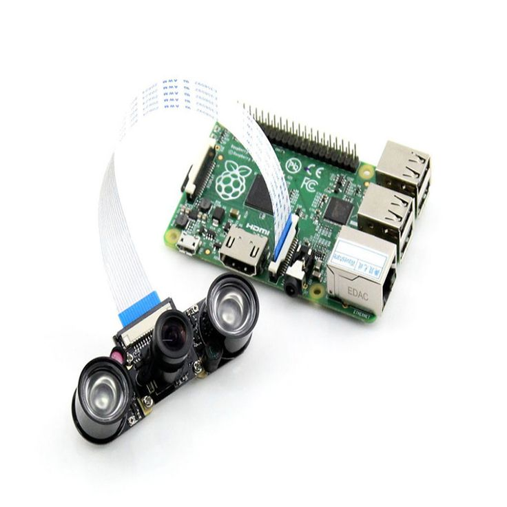 500w Raspberry Pi Camra for Model B/B+  Night Vision Camera Module+ 2X Infrared Light For Raspberry Pi Webcam Video