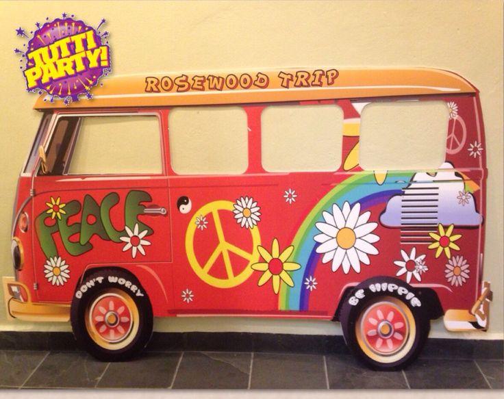 Transporta a tus invitados a los años 60 con este genial tip hippie. #party #hippie