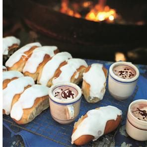 Tear 'n' share sticky iced buns Recipe | delicious. Magazine free recipes