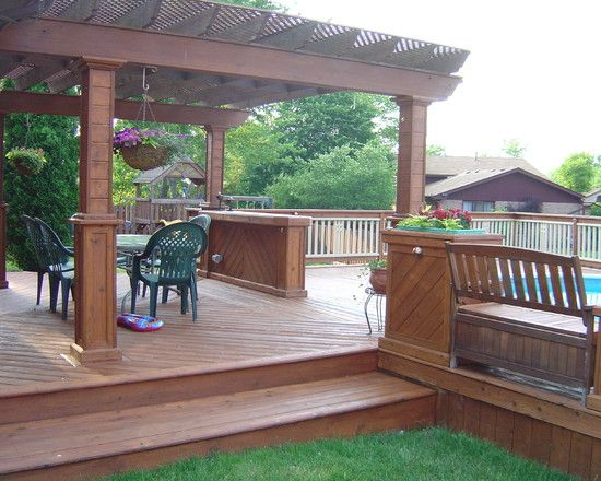 Above ground pools design pictures remodel decor and for Above ground pool house ideas