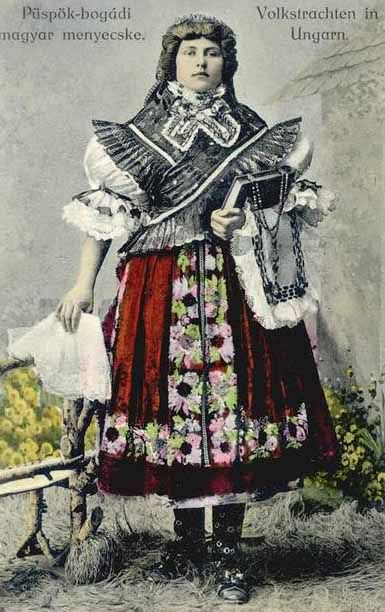 Hungarian ladies traditional costume