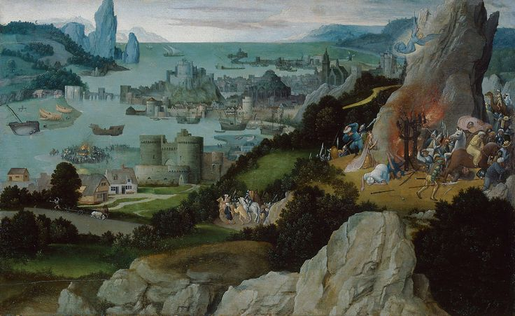 Wheel Miracle of Saint Catherine // before  1515 // Joachim Patinir (Patenier) // Kunsthistorisches Museum Wien, Gemäldegalerie