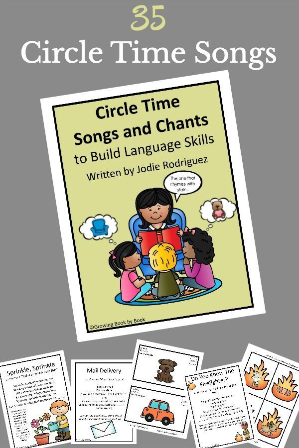 Songs and chants to use during circle time to build language skills.  Perfect for toddler, preschool, and kindergarten circle times. via @growingbbb