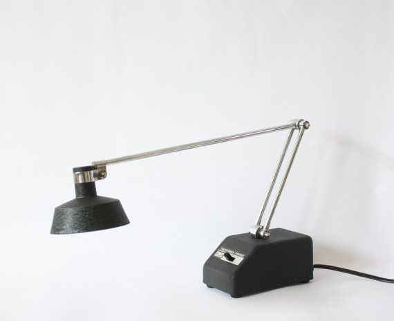 Mobilite Model No. 95 Transformer Powered Black Desk Lamp by TheRoughGem