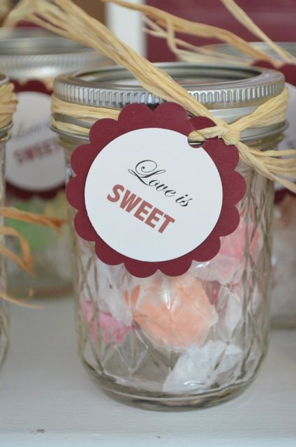Maroon Black and White, Country Wedding Party Ideas | Jars ...