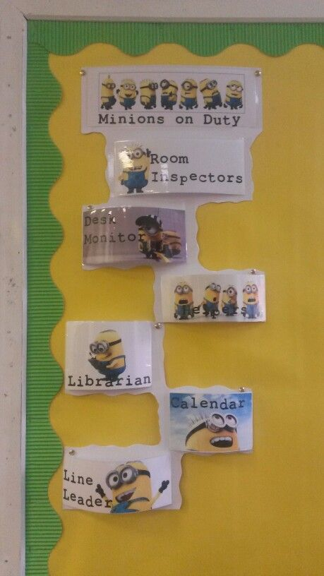 Classroom jobs for my minions