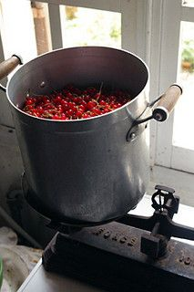 Red currant Jam - red currants in pot by David Lebovitz, via Flickr