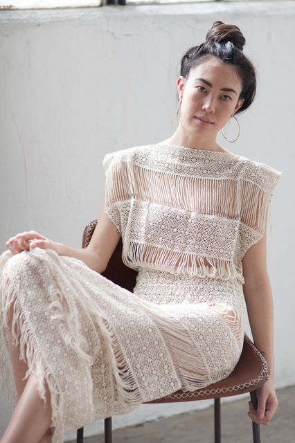 The Brand: Callahan Perfect For: The Anti-Princess Bride  Forget all the tulle, beads, and puffy sleeves. While Callahan is actually a contemporary brand that makes the kind of clothing you want to live in, it's also got this sheer, crochet stunner any cool bride would be down to pull off.