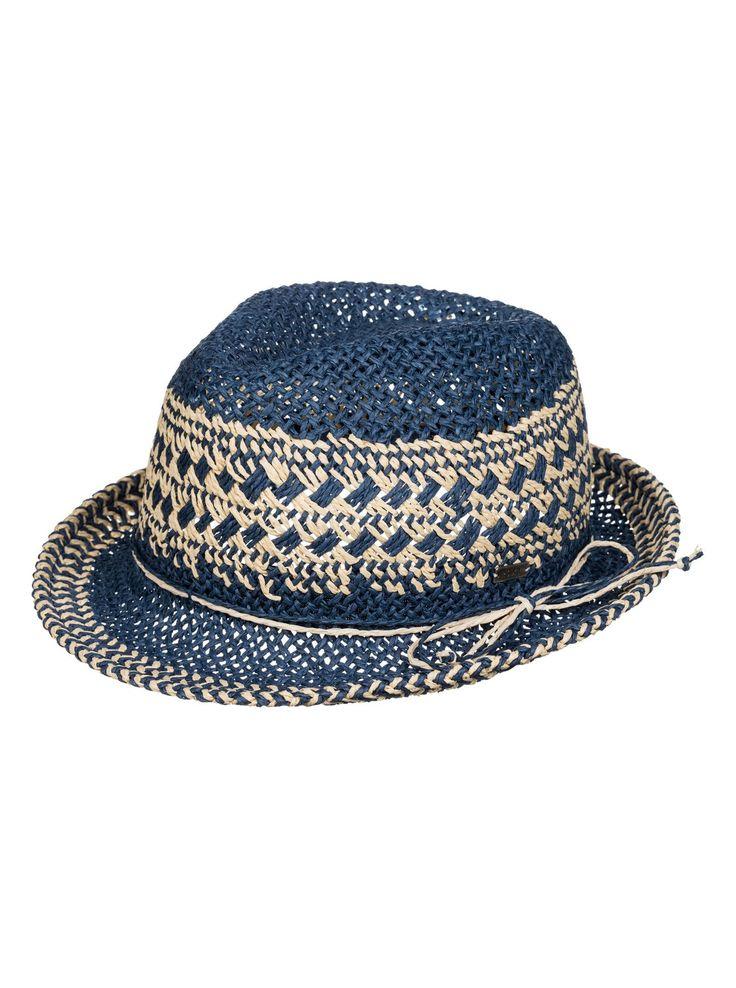 roxy big swell sombrero de paja tipo fedora chambray pmk