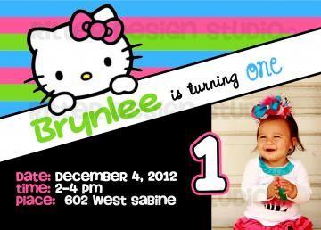 Hello Kitty Birthday Invitation - Printable/ Digital File ...