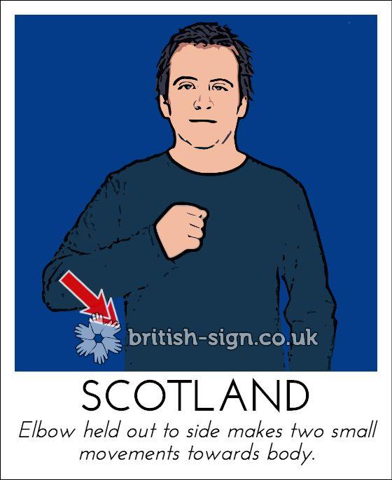 Today's British Sign Language sign is: SCOTLAND - happy Burns night! - www.british-sign.co.uk #BSL #BurnsNight