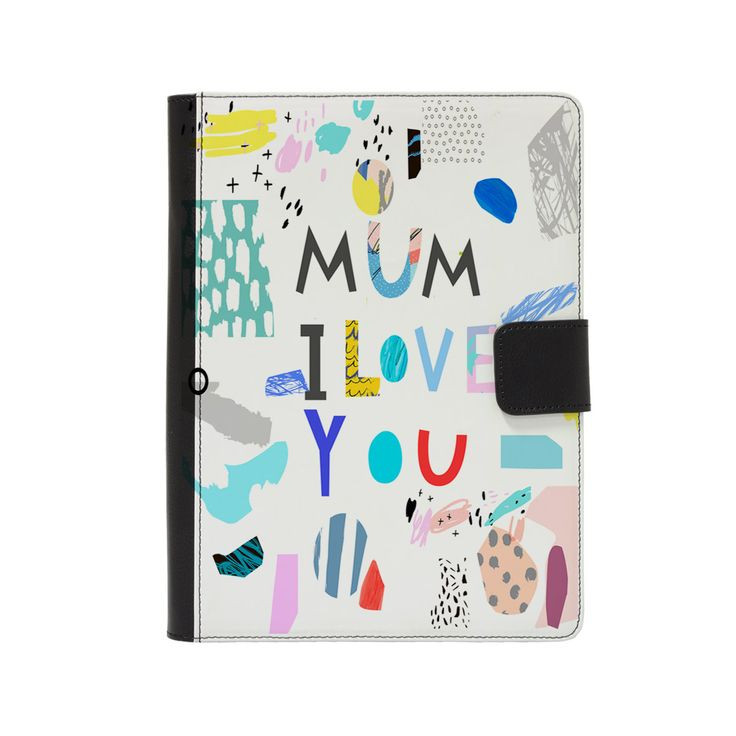 "Customised Faux Leather Universal Flip Case for 9"" - 10"" Tablets - Personalised with your child's artwork - Perfect gift for mums and dads by ScribbleGifts on Etsy"