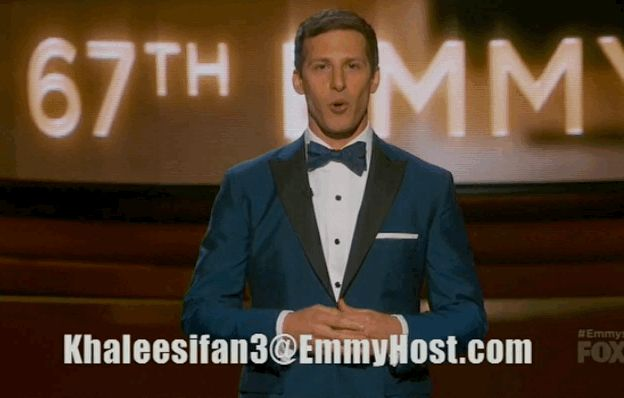 When Andy gave everyone the very real login to his HBO Go account. | The 18 Most Important Moments From The 2015 Emmy Awards