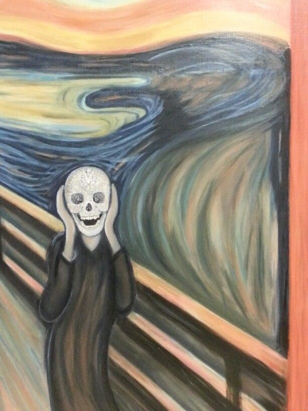 The scream with Demien Hirst. 2013. 53 x 65cm. Oil on Canvas.