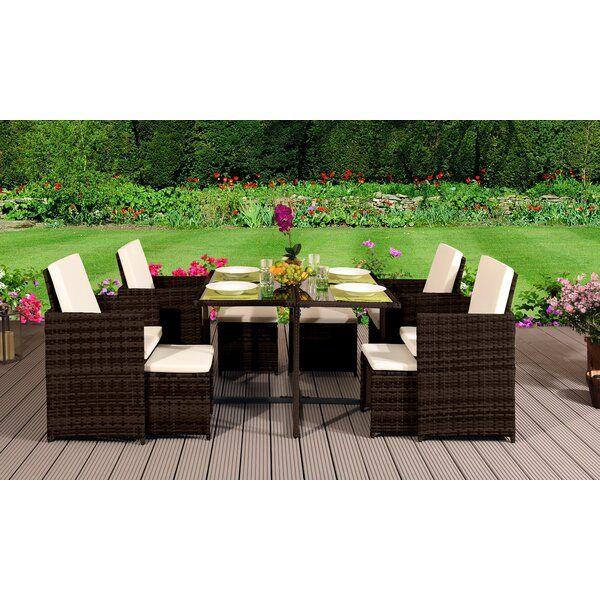 8 Sitzer Essgruppe Gefen Mit Kissen Gartenmobel Sets Garten Essgruppe Stuhle Mit Hoher Ruckenlehne