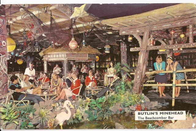 Butlin's Minehead - The Beachcomber Bar vintage nautical mid-century tiki restaurant [cannot we still enjoy these diversions?]