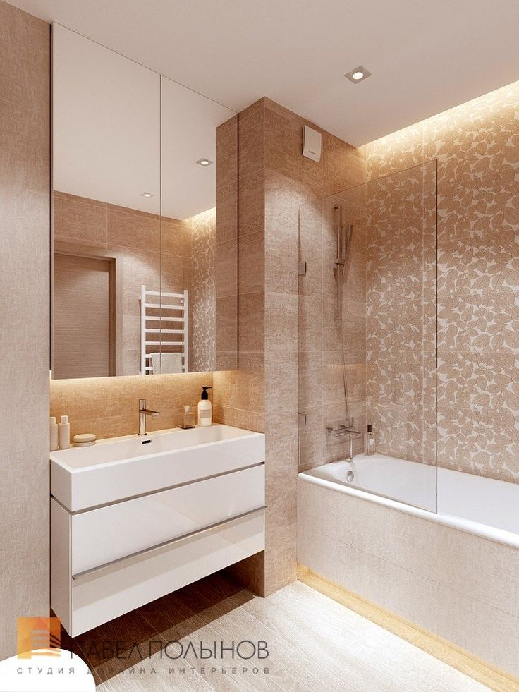 Фото дизайн ванной комнаты из проекта «Дизайн-проект квартиры 72 кв.м., ЖК «Дом на Выборгской», современный стиль»
