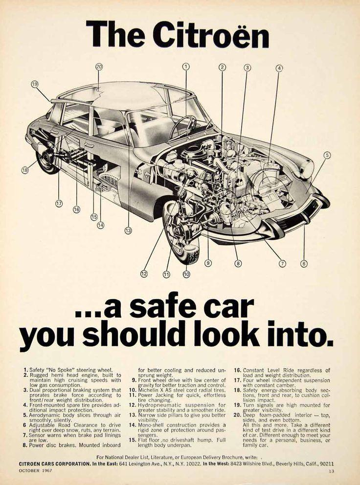 1967 Ad Citroen DS19 European Import 4 Door Sedan Car ...