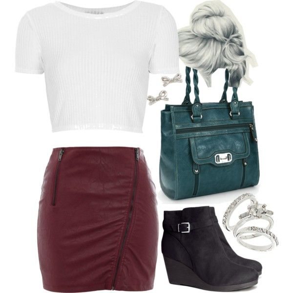Lydia Inspired Outfit with a White Crop Top (tw)