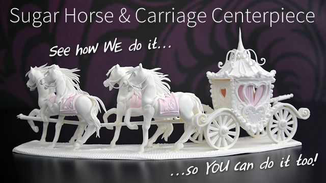 Sugar Horse and Carriage Centerpiece - Yeners Way