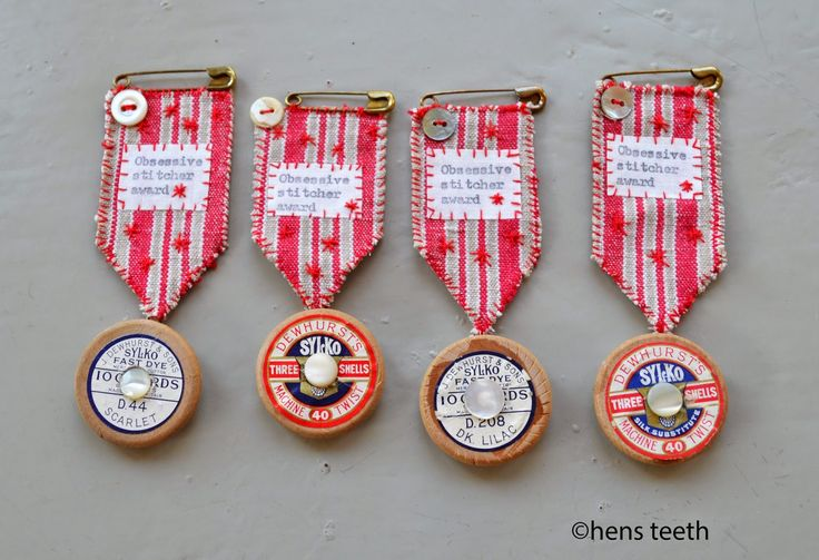 Sewing medals-hens teeth