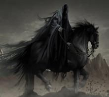 Nazgul Horse. Nazgûl (in the Black Speech); (English: Ringwraiths, sometimes written Ring-wraiths, also referred to as the Black Riders or as the Nine; or the Ulairi