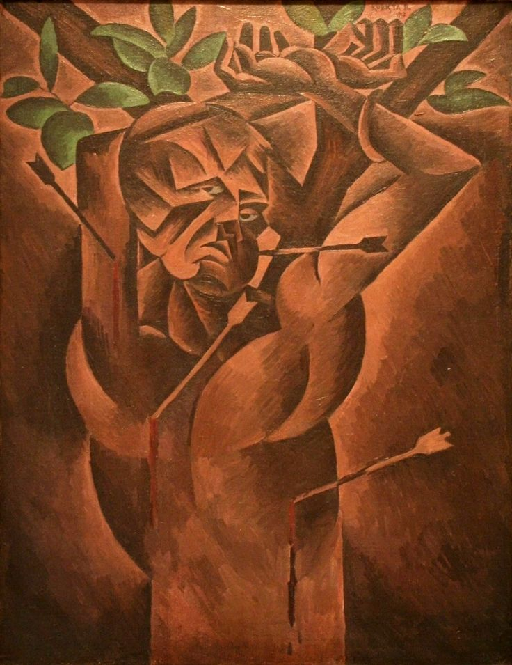 Bohumil Kubišta (Czech 1884– 1918) [Cubism, Expressionism, Osma (The Eight)] St. Sebastian, 1912. National Gallery in Prague .