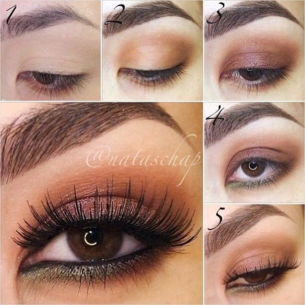 Step By Step Eye Makeup - PICS. My Collection | Copper Party Makeup Tutorial And Makeup Tutorials