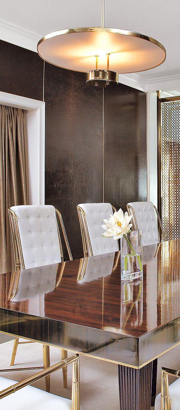 Luxe Dining Room #diningroom