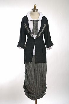 Holkham Hall Skirt by Ivey Abitz Cecil Jacket in Black Linen with Black and White Striped Interior Binding 475 http://iveyabitz.com/shop/111-402/Cecil-Jacket.php Cecil Shirt in White Puckered Striped Cotton with Antique Mother of Pearl Buttons, Circa Late 1800's 375 http://iveyabitz.com/shop/108-404/Cecil-Jacket.php Cecil Necktie in Black and White Striped (small) Linen 155 http://iveyabitz.com/shop/58-408/Cecil-Necktie.php Holkham Hall Skirt in Black and White Mini Striped (small) Linen 475