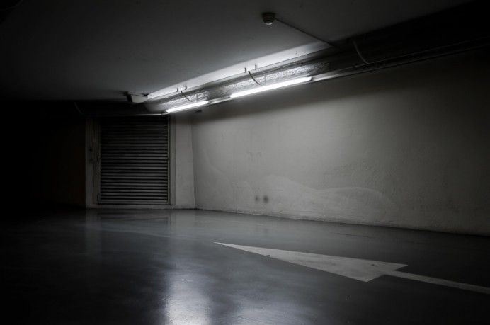 This photograph is one of the last of a long session of almost two hours in an underground parking.  More here : http://www.ludimaginary.net/en/photo/underground-parking-garages-urban-photography/