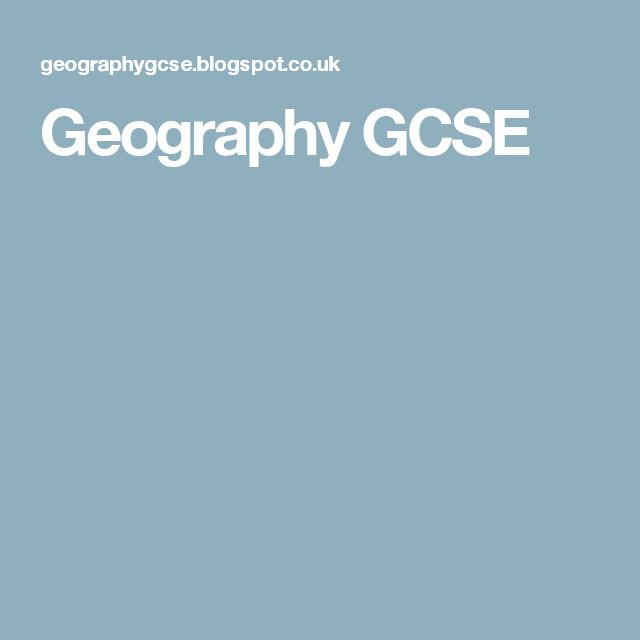 Geography GCSE