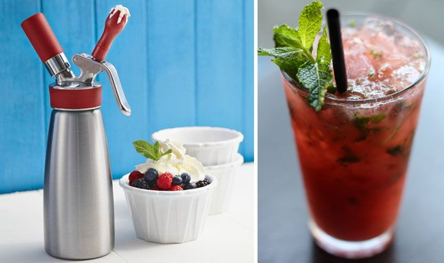 This gizmo lets you flavor your whipped cream - peppermint whipped cream here I come!